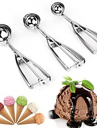 cheap -Ice Cream Scoops and Watermelon Fruit Ball Scoops 3Pcs with Different Sizes and Stainless Steel Spring Handle