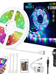 cheap -ZDM Upgraded 32.8ft 10 Meters WIFI App Intelligent Control 5050 RGB LED Soft Strip Light  with IR 24 Key Controller  or DC12V Adapter Kit