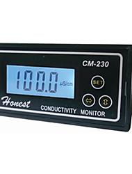 Недорогие -см-230с монитор проводимости тестер метр цифровой детектор скорости электропроводности прибор 0-2000 мкСм / см погрешность 2% непрерывно
