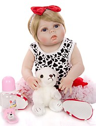 cheap -KEIUMI 22 inch Reborn Doll Baby & Toddler Toy Reborn Toddler Doll Baby Girl Gift Cute Washable Lovely Parent-Child Interaction Full Body Silicone 23D23-C307-T19 with Clothes and Accessories for