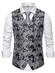 cheap -Men's Vest Geometric Black / Red / Brown US32 / UK32 / EU40 / US36 / UK36 / EU44 / US38 / UK38 / EU46