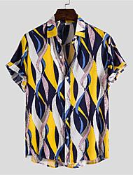 billige -Herre Grafisk Skjorte Basale Tropisk Daglig Regnbue