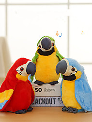 cheap -Electronic Pets Stuffed Animal Plush Doll Talking Stuffed Animals Plush Toy Plush Toys Plush Dolls Cartoon Parrot Dancing Parent-Child Interaction Recordable PP+ABS Plush Imaginative Play, Stocking