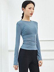 cheap -Ballet Top Ruching Women's Training Performance Long Sleeve High Polyester