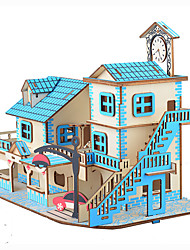 cheap -35 pcs House 3D Jigsaw Puzzle Adult Puzzle Lovely Parent-Child Interaction Jumbo Kid's Adults' Toy Gift