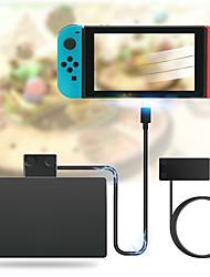 preiswerte -10 Gbit / s Typ C 3.1 für rutschfeste Dock- und Ladekabel-Videodatenübertragungsleitung für Nintendo Switch Dock