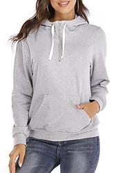 cheap -Women's Hoodie Solid Colored Casual Hoodies Sweatshirts  Cotton Loose Black Fuchsia Orange