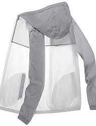 cheap -Men's Women's Hiking Jacket Hiking Windbreaker Outdoor Breathable Ventilation Dust Proof Soft Jacket Hoodie Top Black / Pink / Grey / Green / Blue