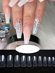 cheap -Clear Full Cover Nails - Fake Nails Square Shaped Acrylic Nails  500pcs False Nail Tips with Case for Nail Salons and DIY Nail Art 10 Sizes