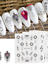cheap -24 Sheets Nail Stickers Dreamcatcher Series Set Environmental Protection Watermark High Quality Decal Decoration for DIY Nail Art Decorations