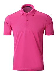 cheap -Men's Golf Polo Shirts Short Sleeve Breathable Quick Dry Soft Athleisure Outdoor Summer Cotton White Black Purple Yellow Red / Stretchy