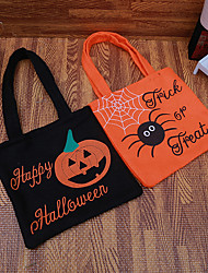cheap -Halloween Party Toys Non-woven Bags Halloween Gift Bags Trick or Treat 2 pcs Pumpkin Cartoon with Handles Non-woven Fabrics Kid's Adults Trick or Treat Halloween Party Favors Supplies