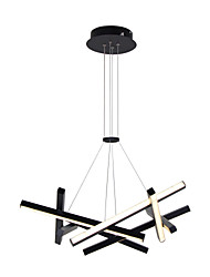 cheap -LED 32W Sputnik Chandelier Dia56CM Aluminum frame Black Painted finishes for Living Room Bedroom Coffee Bar Warm WhiteWhite Light