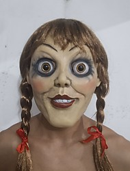 cheap -Latex Mask Scary Costume Inspired by Annabelle Beige Steampunk Halloween Halloween Teen Adults' Women's Men's