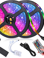 cheap -RGB LED Strip Light kit 10M 600 SMD 5050 LEDs with 44 Key  Remote Dimmable LED Ribbon for Home Lighting Kitchen Bar Power Supply 12V 6A