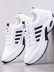 cheap -Men's Trainers / Athletic Shoes Sporty Daily Outdoor Running Shoes / Basketball Shoes Cowhide Breathable Non-slipping Wear Proof White / Silver / Black / Blue Summer / Fall