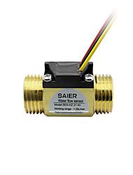 cheap -SEN-HZ21WI Brass Copper 1/2 Liquid Water Hall Effect Flow Sensor Meter Tank Float Level Switch for Water Heater Pump