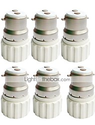 cheap -6pcs B22 to GU10 Bulb Accessory Ceramic Light Bulb Socket