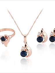 cheap -Women's Bridal Jewelry Sets Earrings Jewelry Dark Blue For Party Wedding Daily Engagement Festival 1 set
