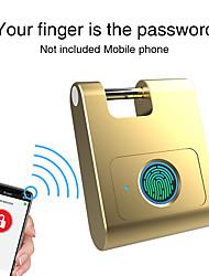 cheap -Security 360 Degrees Anti-theft Home USB Rechargeable Cabinet Fingerprint Lock Padlock Bluetooth Mini Dormitory Smart Keyless