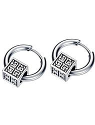cheap -Hoop Earrings Classic Petal Stylish Stainless Steel Earrings Jewelry Silver For Gift Date Festival 1 Pair