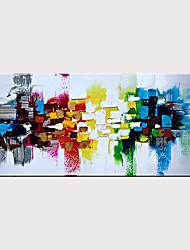 cheap -Handmade Colorful Textured Abstract Wall Art Modern Oil Painting Artwork Rolled Without Frame