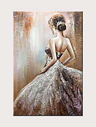 cheap -Hand Painted Canvas Abstract Oil Painting Modern Abstract Art Home Decoration Wall Art Wedding Dress Girl