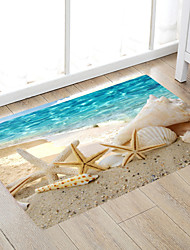 cheap -Big Seaside Beach Snail Shanghai Pentacle Star Scallop Modern Bath Mats Nonwoven / Memory Foam Novelty Bathroom