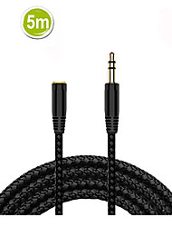 cheap -Audio Cable Extender for iphone Samsung 3.5mm Male to Female 5 Meters Car Auxiliary Audio Stereo Cable MP3 MP4 Speaker Aux Cord