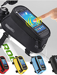 cheap -ROSWHEEL 1.5 L Cell Phone Bag Bike Frame Bag Top Tube Touch Screen Multifunctional Waterproof Bike Bag 600D Polyester Bicycle Bag Cycle Bag Cycling / Bike / Reflective Strips