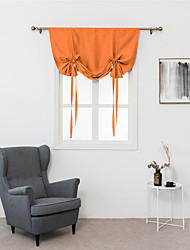 cheap -1 Piece Thermal Insulated Blackout Curtain - Bathroom Curtain Solid Color Tie Up Shade for Small Window, Window Valance Balloon Blind