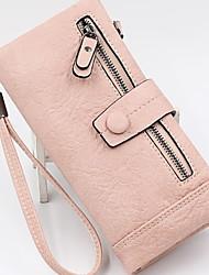 cheap -Women's Zipper PU Leather Wallet 2020 Black / Purple / Red
