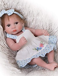 cheap -Reborn Baby Dolls Clothes Reborn Doll Accesories Cotton Fabric Not Include Reborn Doll Flower Soft Pure Handmade Girls' 3 pcs