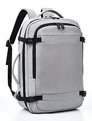 povoljno -Velika zapremnina Najlon Patent-zatvarač ruksak Jedna barva Vanjski Crn / Sive boje