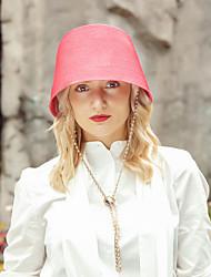 זול -ביגוד לראש יום יומי פּוֹלִיאֶסטֶר כובעים עם מוצק 1pc קזו'אל / לבוש יומיומי כיסוי ראש