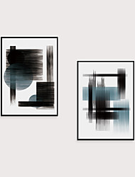 cheap -Framed Art Print Framed Set 2- Abstract Light Luxury Morandi Geometry PS Illustration Wall Art Ready To Hang