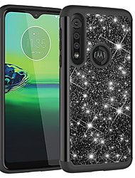 cheap -Case For Motorola MOTO E4 E5 E6 E5Play E6Play G5 G6 G6Play G7 G7Plus G7Play G7Power G8 G8Play  Z3 Z3Play One Macro Shockproof  Glitter Shine Back Cover Solid Colored  Glitter Shine TPU  PC