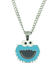 cheap -Boys' Pendant Necklace Necklace Long Necklace Classic Lucky Dainty Classic Anime Trendy Stainless Steel Silver 60 cm Necklace Jewelry 1pc For Christmas New Baby Street Birthday Party Festival