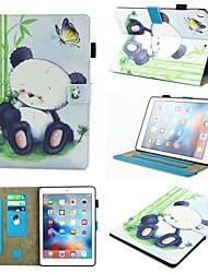 cheap -Case For Apple iPad Mini 3/2/1 / iPad Mini 4 / iPad Mini 5 360° Rotation / Shockproof / Magnetic Full Body Cases Dog / Panda PU Leather / TPU