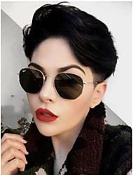 cheap -Human Hair Lace Front Wig Free Part style Brazilian Hair Deep Wave Black Wig 130% Density Classic Women Fashion Women's Short Long Medium Length Human Hair Lace Wig