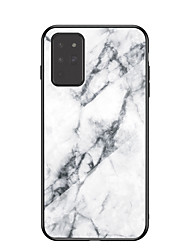 cheap -Case For Samsung Galaxy a80 a90 a90 5G a21 a51 a71 a81 a2core a40 a60 a70E a41 a71 5G a31 Pattern Back Cover Marble TPU Tempered Glass PC