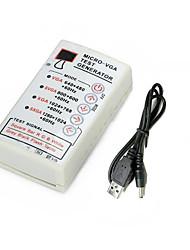 cheap -Portable VGA Signal Generator SVGA/XGA 60HZ For LCD CRT Display Monitor Tester USB Cable VGA SVGA XGA