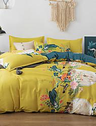 cheap -4-Pieces Bedding Set Flower Print Duvet Cover Set Ultra Soft and Easy Care, Bedding Queen Size Set