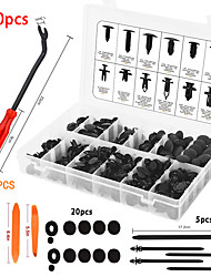 cheap -240pcs Bumper Retainer Clips Car Plastic Rivets Fasteners Push Retainer Kit Most Popular Sizes Auto Push Pin Rivets Set -Door Trim Panel Fender Clips for GM Ford Toyota Honda Chrysle