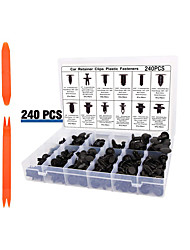 cheap -240pcs Automobile Buckle Plastic Rivets 12 Kinds Of Common Fasteners For Decorative Panel Door Clip Bumper