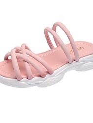 halpa -Tyttöjen Comfort PU Sandaalit Pikkulapset (4-7 vuotta) Valkoinen / Musta / Pinkki Kesä