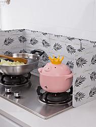 cheap -Aluminum Foldable Kitchen Gas Stove Baffle Plate Frying Pan Oil Splash Protection Screen Kichen Accessories
