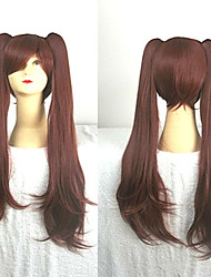 cheap -Cosplay Costume Wig Synthetic Wig Cosplay Wig Izumi Sagiri Another Straight Cosplay With 2 Ponytails Wig Long Auburn Pink Blue Black Synthetic Hair 28 inch Women's Cosplay Black Brown hairjoy