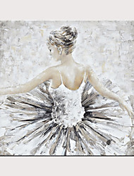 cheap -Hand Painted Canvas Abstract Oil Painting Ballet Girl Modern Abstract Art Home Decorative Wall Art
