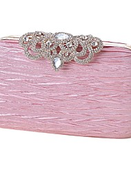 cheap -Women's Bags Silk Evening Bag Crystals Sequin Wedding Bags Party Event / Party Black Blushing Pink Champagne